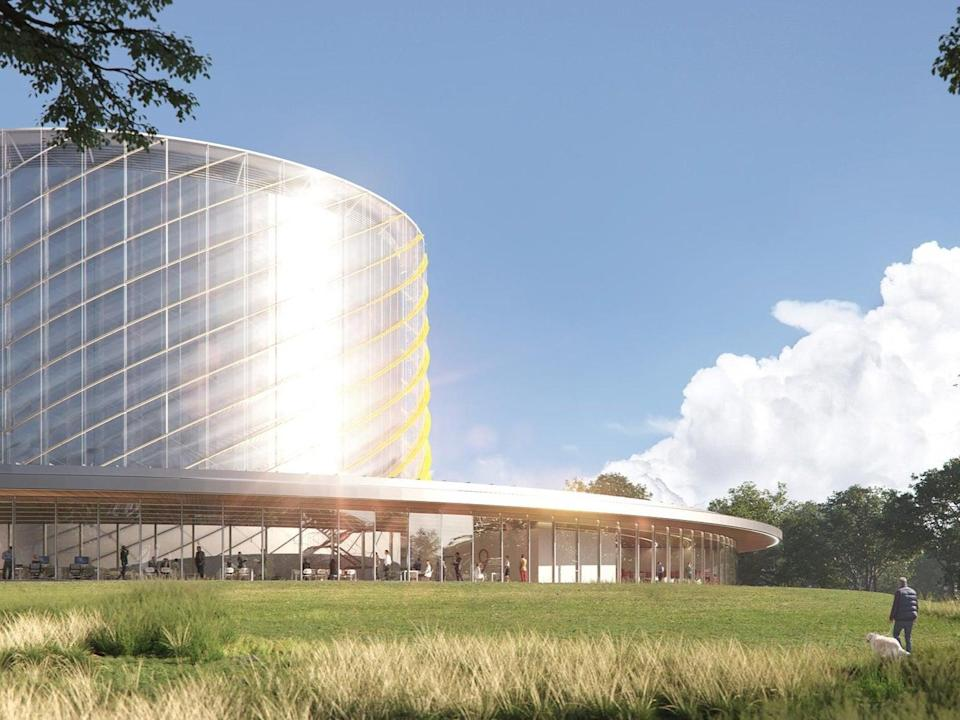 An artist's impression of the new plant, scheduled to start work in four years' time (General Fusion)