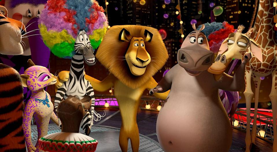 """<p><strong>HBO Max's Description:</strong> """"'A sequel outdoes its original' (Denver Post) in this riotous third adventure that finds the animal quartet--Alex the lion, Marty the zebra, Melman the giraffe, and Gloria the hippo--on the run from a determined animal-control officer throughout Europe. It's a veritable circus of laughs as the quartet hide out in a traveling circus where they make a few furry new friends.""""</p> <p><a href=""""https://play.hbomax.com/feature/urn:hbo:feature:GXdcZSAKtkcPCwwEAACri"""" class=""""link rapid-noclick-resp"""" rel=""""nofollow noopener"""" target=""""_blank"""" data-ylk=""""slk:Watch Madagascar 3: Europe's Most Wanted on HBO Max here!"""">Watch <strong>Madagascar 3: Europe's Most Wanted</strong> on HBO Max here!</a></p>"""