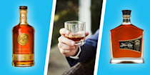 """<p>From mojitos to mai tais to daiquiris, rum is well-regarded as a boozy base for a wide range of delicious cocktails. But unlike bourbon, scotch, <a href=""""https://www.menshealth.com/trending-news/g33585753/best-sipping-tequilas/"""" rel=""""nofollow noopener"""" target=""""_blank"""" data-ylk=""""slk:or even tequila"""" class=""""link rapid-noclick-resp"""">or even tequila</a>, rum isn't given nearly enough respect for its ability to stand on its own. While you might be more used to dumping a bottle of the cheap stuff into a sugary, pre-made mix and parking it poolside, there are a bunch of top-notch sipping rums worth adding to your liquor cabinet or home bar. </p><p>Rum is made by fermenting then distilling molasses, a by-product of the sugar refining process, which is then aged, usually in oak barrels. Much like other brown liquors, the smoothest rums rely on a combination of craftsmanship and patience. Rum comes in a variety of grades, with lighter rums in general being more suitable for cocktails, while golden and dark rums are more amenable on the rocks or straight. However, there are rums across the color and aging spectrum that are great for sipping. A more inexperienced palate might taste rum and go, """"Yup, tastes like rum."""" But the more rums you taste, the more you'll notice subtle citrus, fruit, caramel, vanilla, or other notes that come from the aging process and give individual rums their distinctive character. </p><p>In order to throw together this list, we consulted with spirits expert and master bartender <a href=""""https://www.instagram.com/shannonmustipher/?hl=en"""" rel=""""nofollow noopener"""" target=""""_blank"""" data-ylk=""""slk:Shannon Mustipher"""" class=""""link rapid-noclick-resp"""">Shannon Mustipher</a>, the author of <em><a href=""""https://www.amazon.com/Tiki-Tropical-Cocktails-Shannon-Mustipher/dp/0789335549?tag=syn-yahoo-20&ascsubtag=%5Bartid%7C2139.g.34197042%5Bsrc%7Cyahoo-us"""" rel=""""nofollow noopener"""" target=""""_blank"""" data-ylk=""""slk:Tiki: Modern Tropical Cocktails"""" class=""""link rapid-noclick-"""