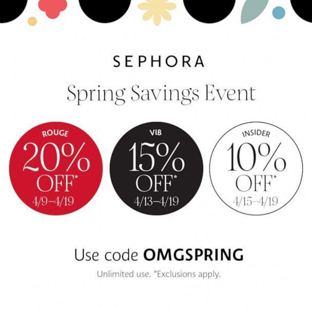 Sephora has announced its Spring Savings Event featuring up to 20% off on beauty essentials. (Sephora)