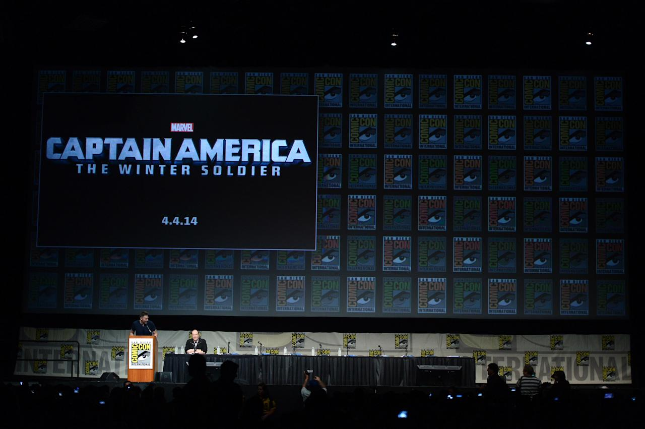 """SAN DIEGO, CA - JULY 14:  A general view of atmosphere during Marvel Studios """"Iron Man 3"""" panel during Comic-Con International 2012 at San Diego Convention Center on July 14, 2012 in San Diego, California.  (Photo by Kevin Winter/Getty Images)"""