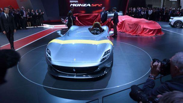 PHOTO: The unveiling of the Ferrari Monza SP1 at the Paris Motor Show, Oct. 2, 2018. (Eric Piermont/AFP/Getty Images, FILE)
