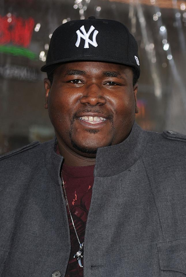"<a href=""http://movies.yahoo.com/movie/contributor/1810098051"">Quinton Aaron</a> at the Los Angeles premiere of <a href=""http://movies.yahoo.com/movie/1810096356/info"">The Losers</a> - 04/20/2010"