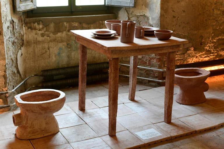 "At Italy's ""Shit Museum"" the cow dung by-product ""Merdacotta"" is used to make tableware and other everyday objects like bricks, tiles and flowerpots"