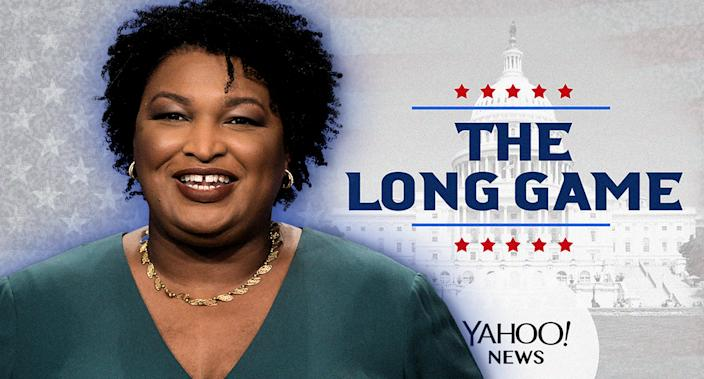 Stacey Abrams. (Photo illustration: Yahoo News; photos: AP(2), Getty Images)
