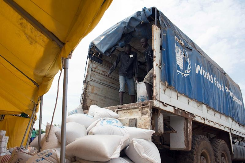 The UN World Food Programme (WFP) says it issuspending food aid deliveries to parts of Upper Nile state (AFP Photo/Charles Lomodong)