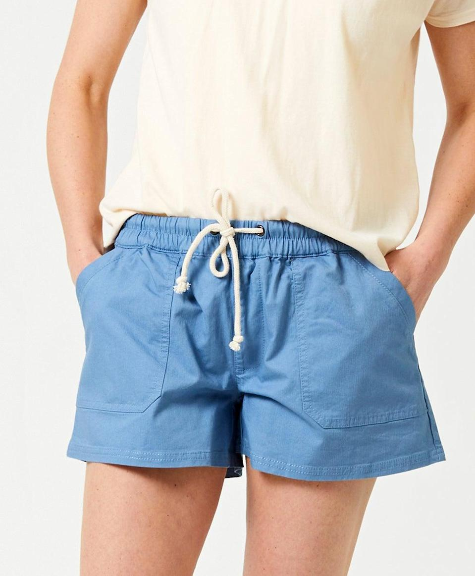 """<h2>Pull-On Shorts</h2> <br>Pull-on shorts are to July what biker shorts were to June; meaning readers were selling these styles out everywhere from <a href=""""https://www.madewell.com/pull-on-shorts-99104915274.html"""" rel=""""nofollow noopener"""" target=""""_blank"""" data-ylk=""""slk:Madewell"""" class=""""link rapid-noclick-resp"""">Madewell</a> to <a href=""""https://www.gap.com/browse/product.do?pid=543310022"""" rel=""""nofollow noopener"""" target=""""_blank"""" data-ylk=""""slk:Gap"""" class=""""link rapid-noclick-resp"""">Gap</a> and even <a href=""""https://www.urbanoutfitters.com/shop/patagonia-barely-baggies-short2"""" rel=""""nofollow noopener"""" target=""""_blank"""" data-ylk=""""slk:Patagonia"""" class=""""link rapid-noclick-resp"""">Patagonia</a>. This easy-breezy summer style was so in-demand, we crafted <a href=""""https://www.refinery29.com/en-us/baggy-boxer-pull-on-shorts-women"""" rel=""""nofollow noopener"""" target=""""_blank"""" data-ylk=""""slk:an entire story dedicated to the boxer-like baggies"""" class=""""link rapid-noclick-resp"""">an entire story dedicated to the boxer-like baggies</a> — with this organic and sustainably made pair from Pact clocking in as a top-of-cart favorite this month (and there are still plenty of sizes and colors in stock!). <br><br><em>Shop <strong><a href=""""https://wearpact.com/women/apparel/pants%20&%20shorts"""" rel=""""nofollow noopener"""" target=""""_blank"""" data-ylk=""""slk:Pact"""" class=""""link rapid-noclick-resp"""">Pact</a></strong></em><br><br><strong>PACT</strong> Drawstring Short, $, available at <a href=""""https://go.skimresources.com/?id=30283X879131&url=https%3A%2F%2Fwearpact.com%2Fwomen%2Fapparel%2Fpants%2520%26%2520shorts%2Fwoven%2520drawstring%2520short%2Fwa1-wwo-cdb"""" rel=""""nofollow noopener"""" target=""""_blank"""" data-ylk=""""slk:PACT"""" class=""""link rapid-noclick-resp"""">PACT</a><br><br><br>"""