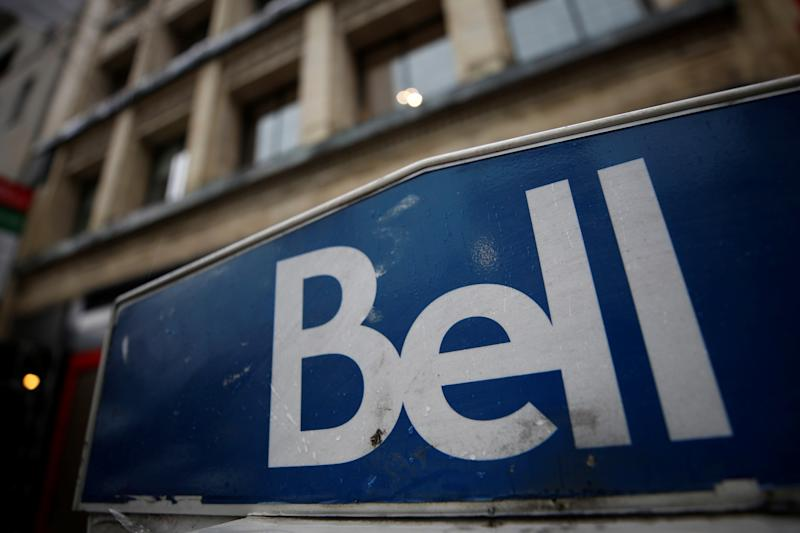 A Bell Canada sign is pictured in Ottawa, Ontario, Canada, November 1, 2017. REUTERS/Chris Wattie