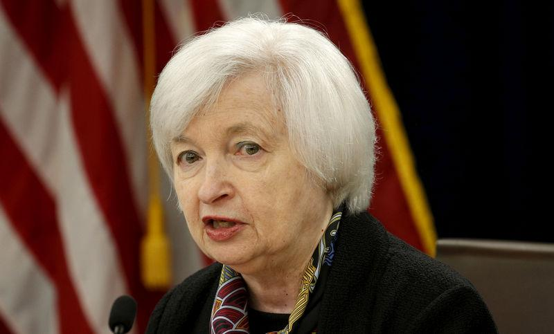Federal Reserve Chair Janet Yellen holds a press conference in Washington