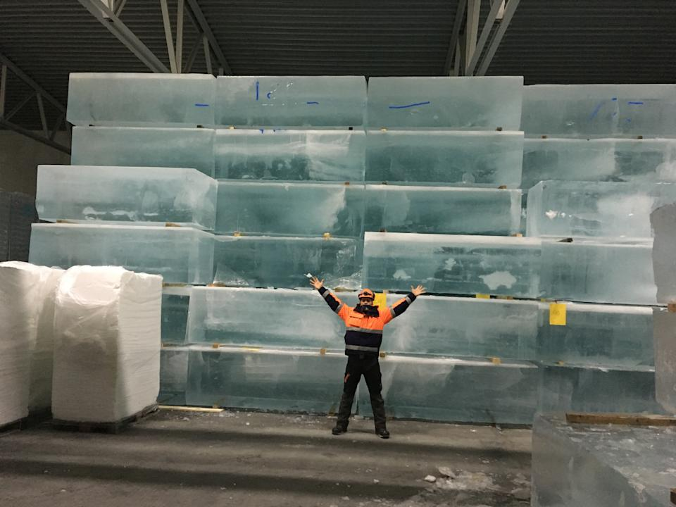 <p>All the ice blocks stacked up and ready for use</p>Luca Roncoroni