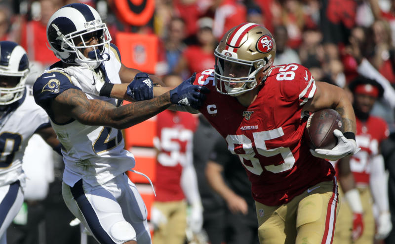 Could the San Francisco 49ers and Los Angeles Rams have home games without fans in the fall? (AP Photo/Alex Gallardo)