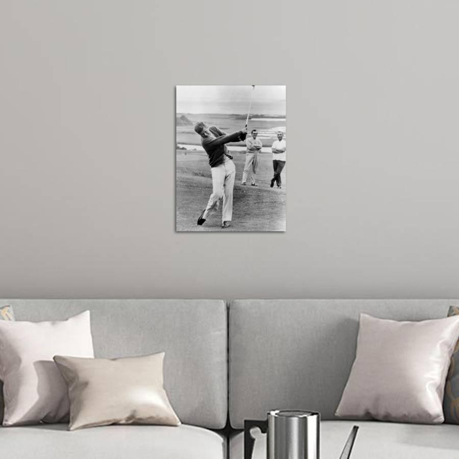 """<p>art.com</p><p><strong>$89.00</strong></p><p><a href=""""https://go.redirectingat.com?id=74968X1596630&url=https%3A%2F%2Fwww.art.com%2Fproducts%2Fp19247610930-sa-i7182333%2Fpresident-john-kennedy-playing-golf-at-hyannis-port-july-20-1963.htm&sref=https%3A%2F%2Fwww.goodhousekeeping.com%2Fholidays%2Fgift-ideas%2Fg20685099%2Fgolf-gifts%2F"""" rel=""""nofollow noopener"""" target=""""_blank"""" data-ylk=""""slk:Shop Now"""" class=""""link rapid-noclick-resp"""">Shop Now</a></p><p>Digital technology brings this classic moment up to date in our modern world so that dad can admire our former President sharing his love for the sport, too. </p>"""