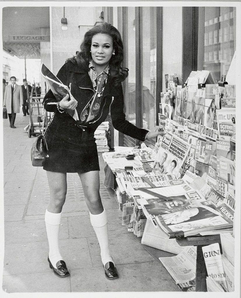 <p>Setting trends in knee high socks and loafers.</p>
