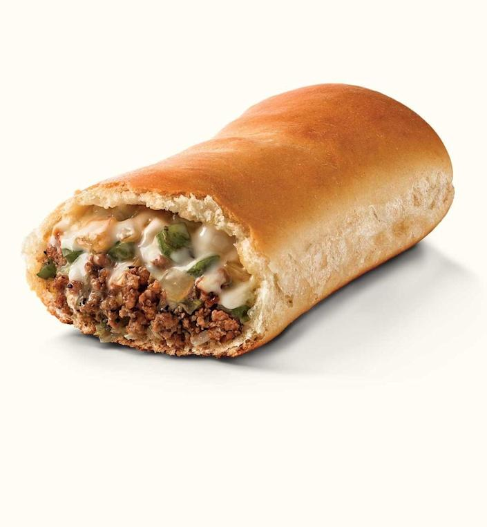 """<p><strong>Runza </strong></p><p><a href=""""https://www.runza.com/"""" rel=""""nofollow noopener"""" target=""""_blank"""" data-ylk=""""slk:Runza Restaurants"""" class=""""link rapid-noclick-resp"""">Runza Restaurants</a> opened in Nebraska in 1949, and it's signature sandwich made of a dough exterior filled with ground beef, cabbage, onions and seasonings gained so much popularity it became a state-wide household name. You can thank the creation of this treat to Nebraska's German and Russian immigrants.</p>"""