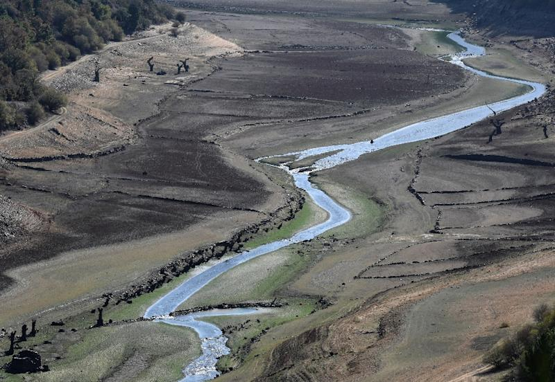 Drought has caused river levels to drop in many areas of Spain and Portugal