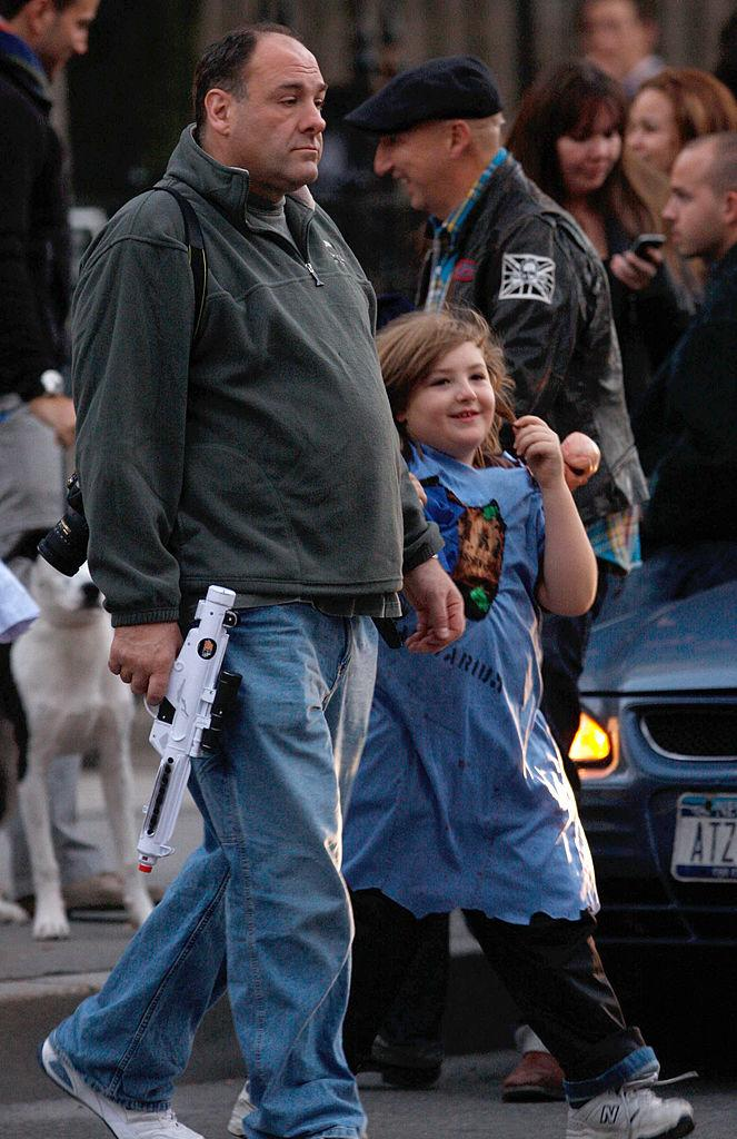 James Gandolfini and son Michael Gandolfini trick-or-treating on Oct. 31, 2008, in New York City. (Photo: Marcel Thomas/FilmMagic)
