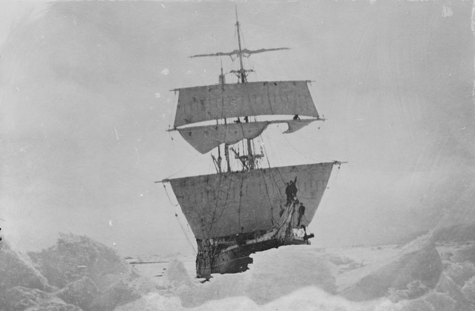 The expedition was named after their ship, Nimrod. (Scott Polar Research Institute, University of Cambridge/ PA)
