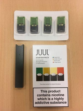 Juul e-cigarette starter pack is seen in this picture illustration taken July 16, 2018. REUTERS/Martinne Geller/Illustration