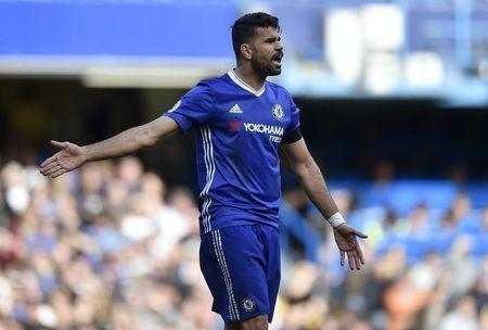 Britain Soccer Football - Chelsea v Crystal Palace - Premier League - Stamford Bridge - 1/4/17 Chelsea's Diego Costa in action Reuters / Hannah McKay Livepic EDITORIAL USE ONLY.