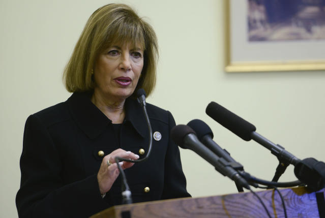 """Rep. Jackie Speier said the Title IX Protection Actwould""""create a standard that cannot be changed."""" (Leigh Vogel via Getty Images)"""