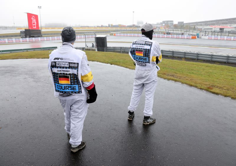 Formula One working on back-up plans to beat German weather