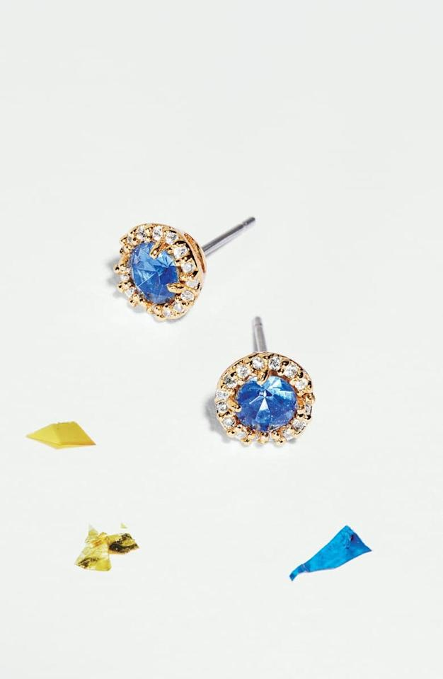 """<p>These <a href=""""https://www.popsugar.com/buy/Kate-Spade-New-York-Sparkle-Stud-Earrings-519610?p_name=Kate%20Spade%20New%20York%20That%20Sparkle%20Stud%20Earrings&retailer=shop.nordstrom.com&pid=519610&price=48&evar1=fab%3Aus&evar9=44353153&evar98=https%3A%2F%2Fwww.popsugar.com%2Ffashion%2Fphoto-gallery%2F44353153%2Fimage%2F47015403%2FKate-Spade-New-York-That-Sparkle-Stud-Earrings&list1=shopping%2Cnordstrom%2Choliday%2Cgift%20guide%2Clast-minute%20gifts%2Cfashion%20gifts%2Cgifts%20for%20women&prop13=api&pdata=1"""" rel=""""nofollow"""" data-shoppable-link=""""1"""" target=""""_blank"""" class=""""ga-track"""" data-ga-category=""""Related"""" data-ga-label=""""https://shop.nordstrom.com/s/kate-spade-new-york-that-sparkle-stud-earrings/5319266/full?origin=category-personalizedsort&amp;breadcrumb=Home%2FHoliday%20Gifts%2FGifts%20for%20Her&amp;color=sapphire"""" data-ga-action=""""In-Line Links"""">Kate Spade New York That Sparkle Stud Earrings</a> ($48) come in several pretty shades.</p>"""