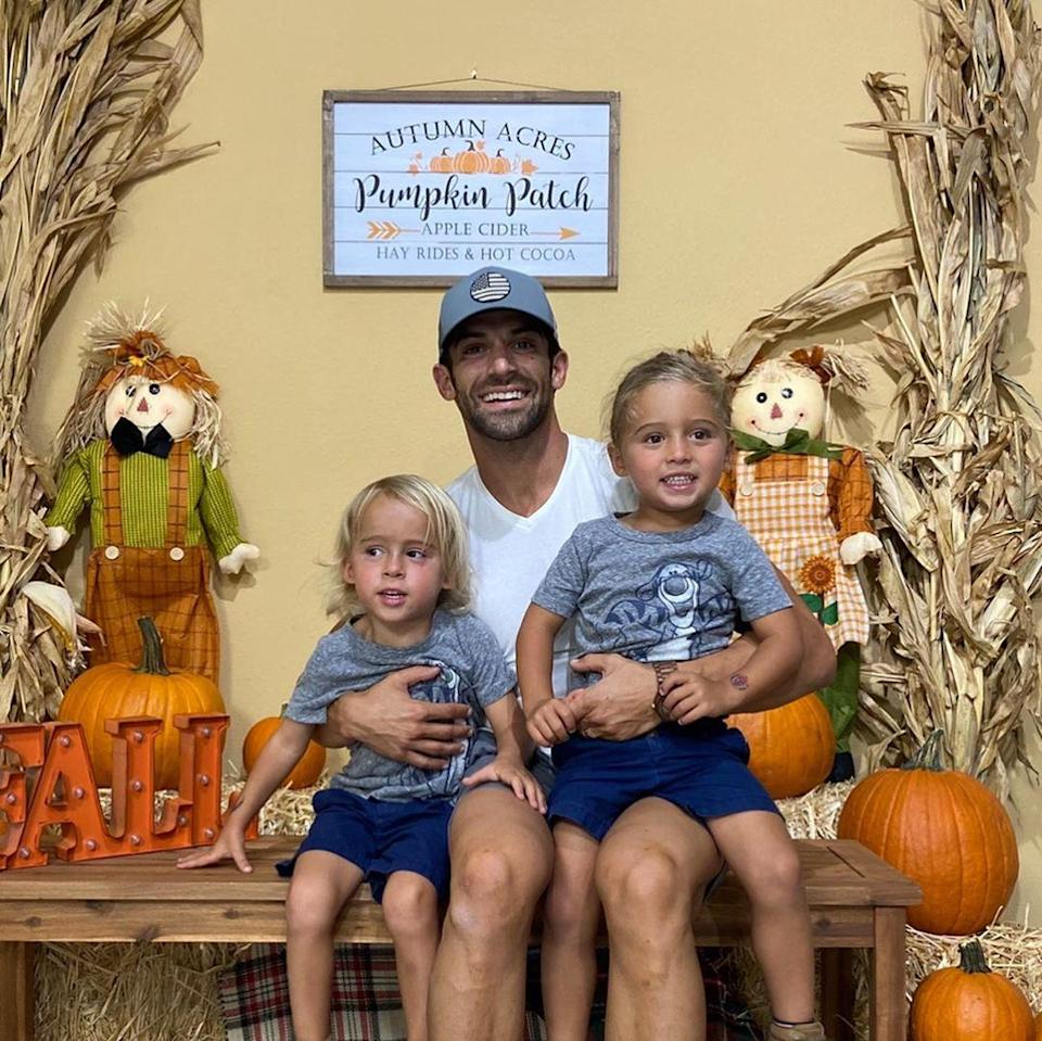 """<p>Robbie E's twin sons <a href=""""https://people.com/parents/robbie-e-welcomes-twin-sons-carter-stone-cash-steven/"""" rel=""""nofollow noopener"""" target=""""_blank"""" data-ylk=""""slk:Cash Steven and Carter Stone"""" class=""""link rapid-noclick-resp"""">Cash Steven and Carter Stone</a> turned 4 on Nov. 3.</p>"""