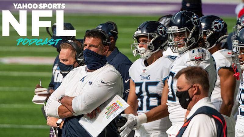 How will the NFL handle its first major COVID outbreak after four players and five personnel on the Tennessee Titans tested positive after Sunday's game against the Minnesota Vikings? (Photo by Stephen Maturen/Getty Images)