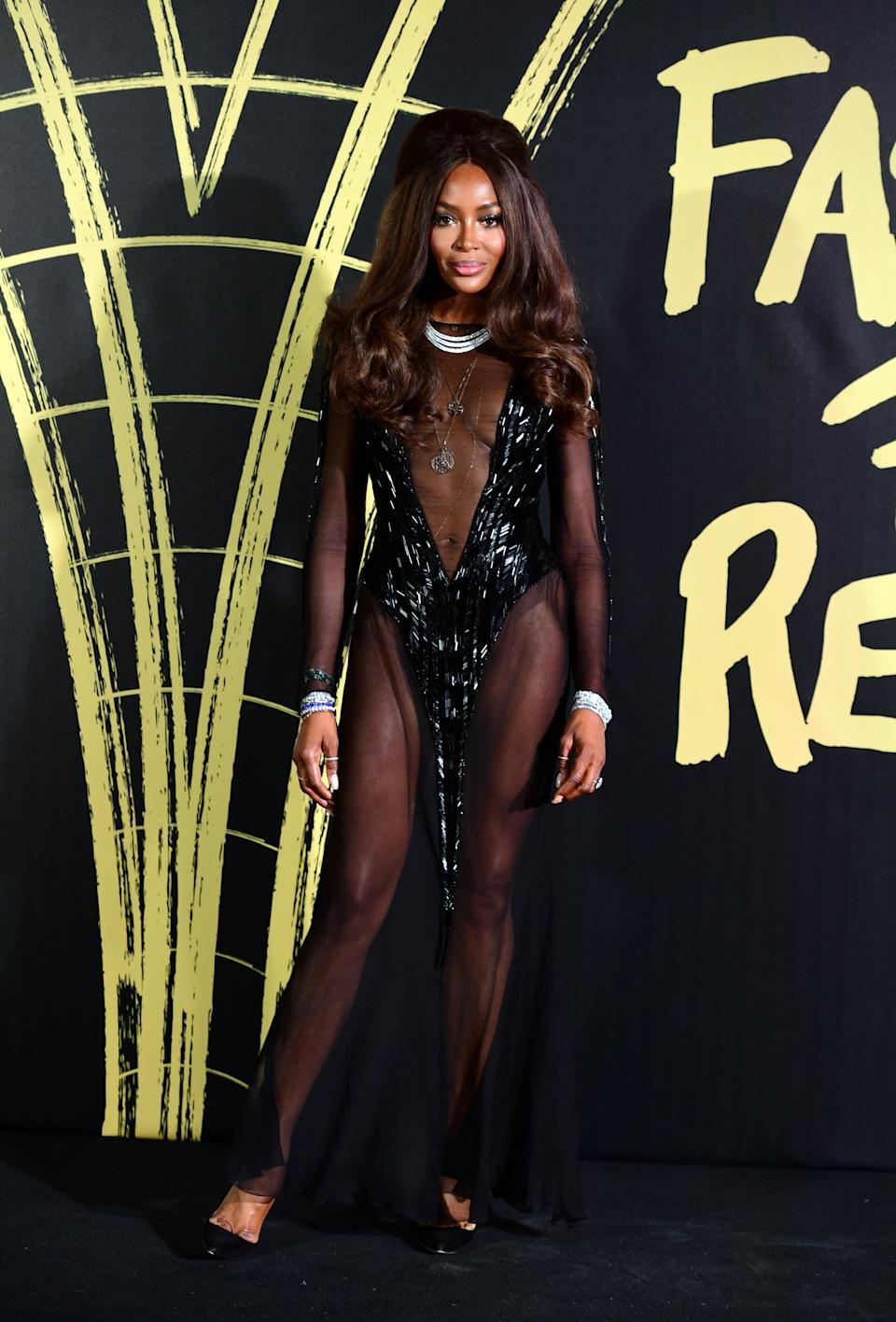 Naomi Campbell arriving on the red carpet for her Fashion For Relief Gala during London Fashion Week [Photo: PA]