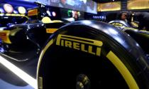 FILE PHOTO: A Pirelli tyre is seen before a ceremony at the Milan Stock Exchange in Milan