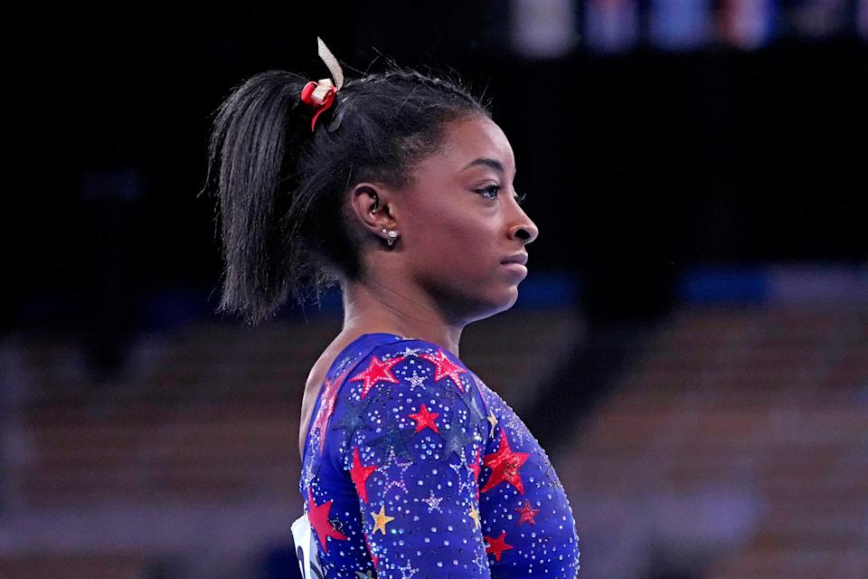 """""""We have to protect our mind and our body rather than just go out there and do what the world wants us to do,"""" Simone Biles says."""