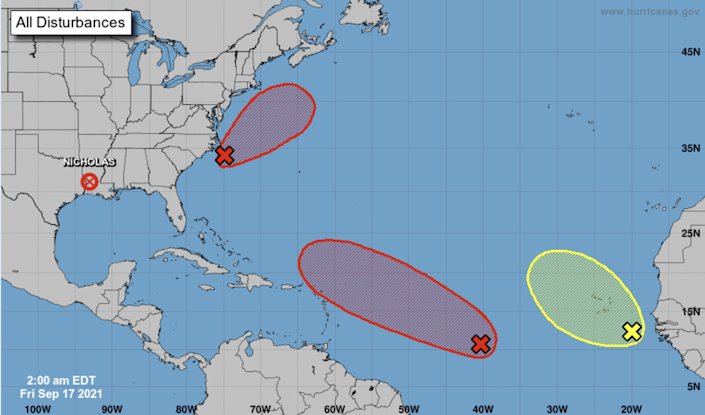 There are three disturbances being monitored in the Atlantic Friday and two have a high chance of turning into a tropical depression, possibly by early next week.