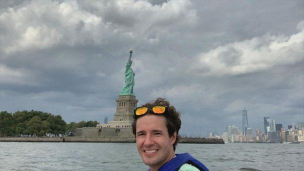 PHOTO: David Pike commutes on a jet ski from Jersey City to Brooklyn every morning. (ABC News)