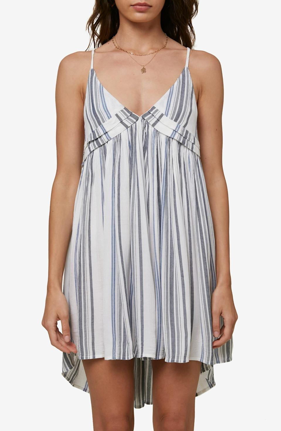 <p>You'll reach for this <span>Oneill Saltwater Solids Stripe Cover-Up Tank Dress</span> ($36, originally $52) daily.</p>