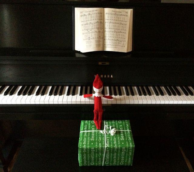 """<p>Okay, fine, he may not be able to reach the keyboard without a little assistance. But once he's gotten his footing, this little Elf is a prodigy. </p><p><strong>Get the tutorial at <a href=""""http://www.rachelswartley.com/2014/01/02/the-rest-of-zippys-december-adventures/"""" rel=""""nofollow noopener"""" target=""""_blank"""" data-ylk=""""slk:Rachel Swartley"""" class=""""link rapid-noclick-resp"""">Rachel Swartley</a>.</strong></p><p><strong><a class=""""link rapid-noclick-resp"""" href=""""https://www.amazon.com/2019-GREATEST-MOVIE-SONGBOOK-PIANO-ebook/dp/B07V5QXPKR?tag=syn-yahoo-20&ascsubtag=%5Bartid%7C10050.g.22690552%5Bsrc%7Cyahoo-us"""" rel=""""nofollow noopener"""" target=""""_blank"""" data-ylk=""""slk:SHOP SHEET MUSIC"""">SHOP SHEET MUSIC</a><br></strong></p>"""