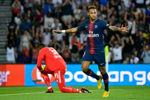 Neymar scored his first goal for PSG since a 5-2 win over Strasbourg in February
