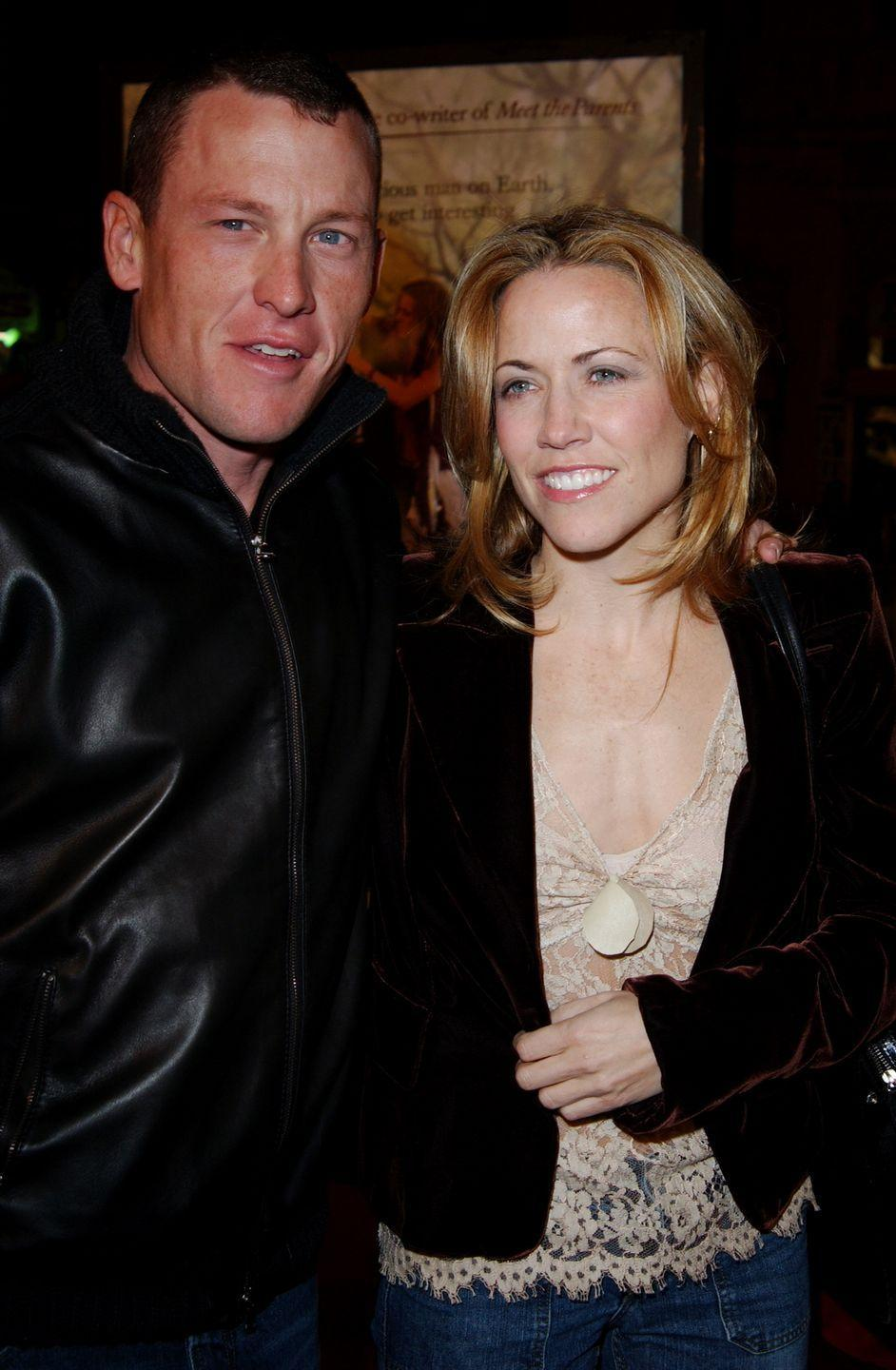 """<p>The two started dating in 2003 and called it quits in February 2006 after getting engaged five months earlier. """"It was a good ride,"""" the <a href=""""http://www.etonline.com/news/212276_lance_armstrong_talks_relationship_with_sheryl_crow_it_s_tough_to_pull_off_being_a_power_couple/"""" rel=""""nofollow noopener"""" target=""""_blank"""" data-ylk=""""slk:cyclist told Howard Stern"""" class=""""link rapid-noclick-resp"""">cyclist told Howard Stern</a>. """"She's a great lady. Obviously it didn't work out, but I think and I hope she's happy. I'm happy."""" </p>"""