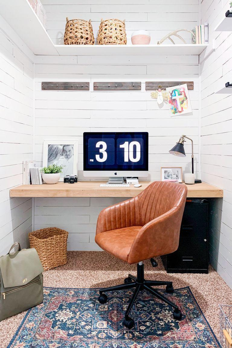 <p>Don't fret if you're lacking cabinet space. Graphic designer Ashley Smith revamped her compact closet with high shelving that offers just enough room to store books and decorative accents. </p>