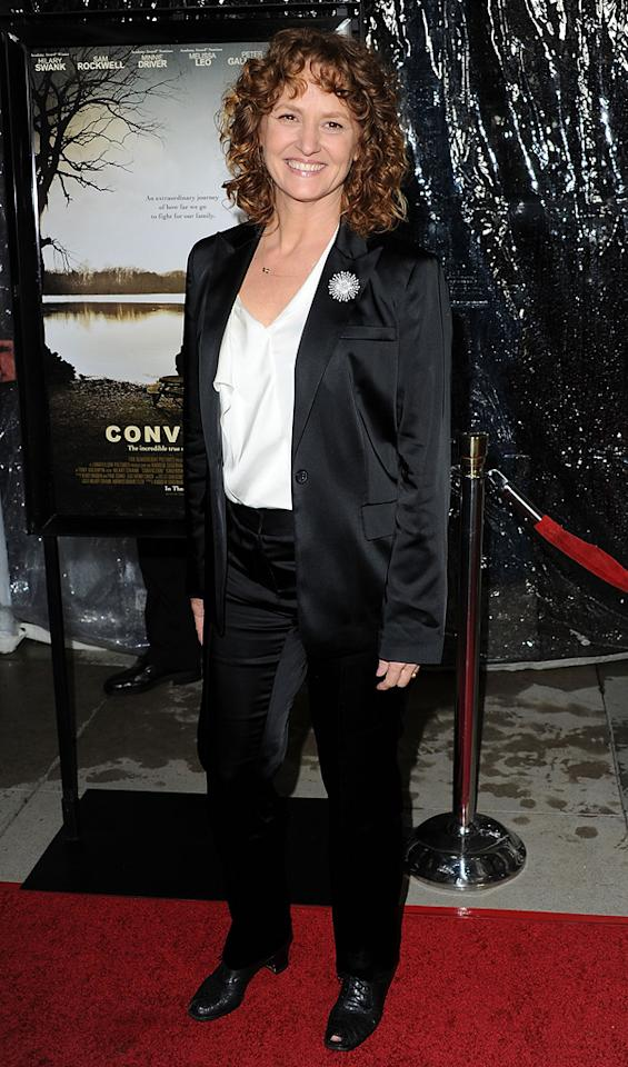 """<a href=""""http://movies.yahoo.com/movie/contributor/1800357233"""">Melissa Leo</a> at the Los Angeles premiere of <a href=""""http://movies.yahoo.com/movie/1810071450/info"""">Conviction</a> on October 5, 2010."""
