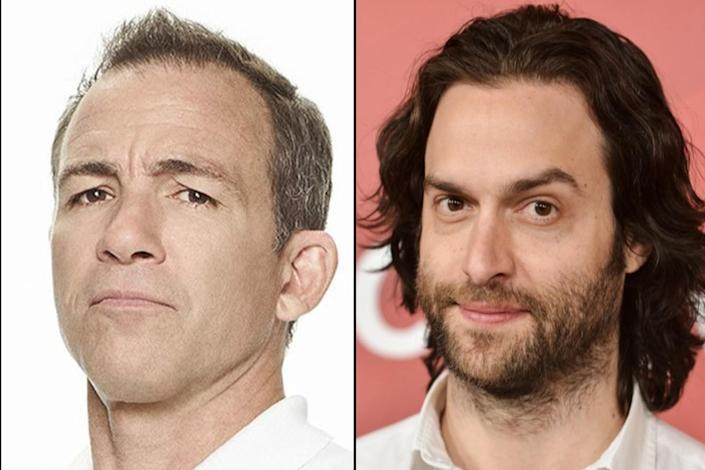 """Bryan Callen, pictured in ABC's """"Schooled,"""" left, and Chris D'Elia. <span class=""""copyright"""">(ABC/Getty Images)</span>"""