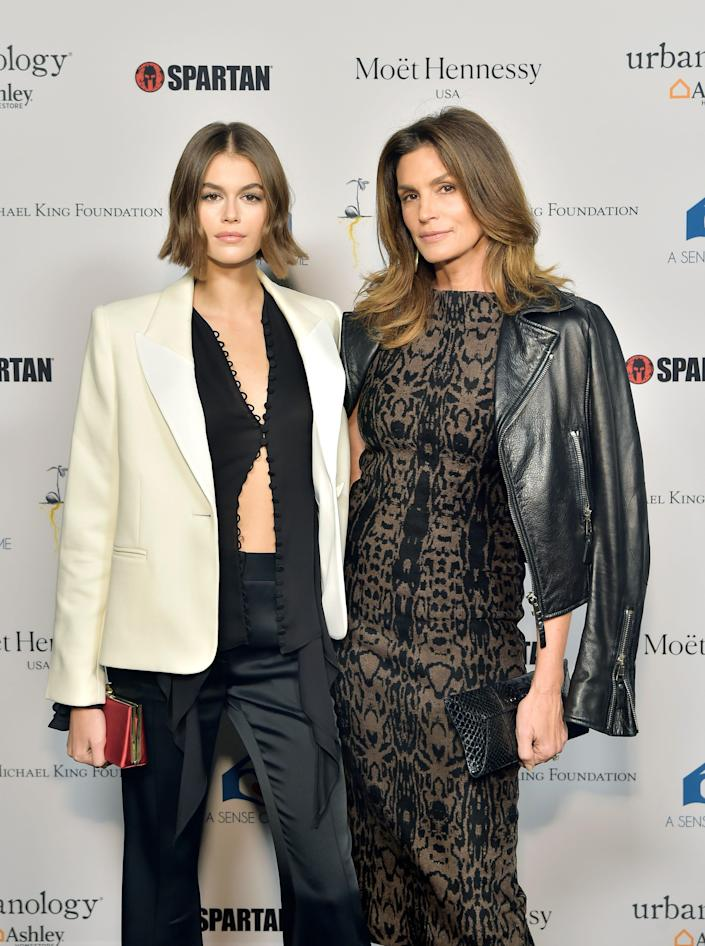Kaia Gerber and Cindy Crawford in 2019.