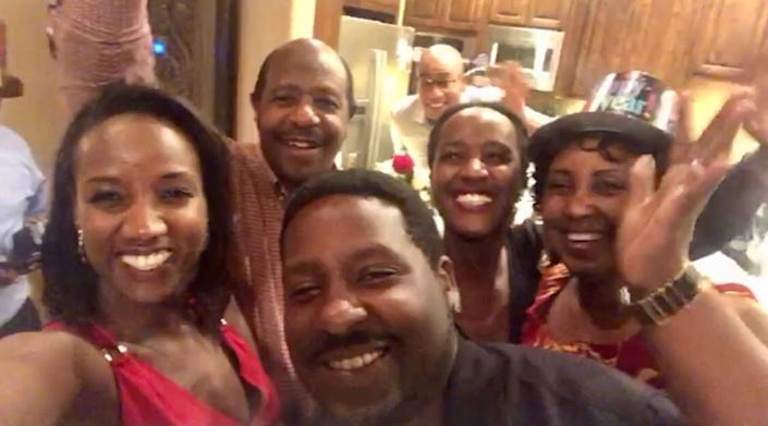 "Paul Rusesabagina with his family on New Year's Eve last year.<span class=""copyright"">Courtesy Carine Kanimba</span>"