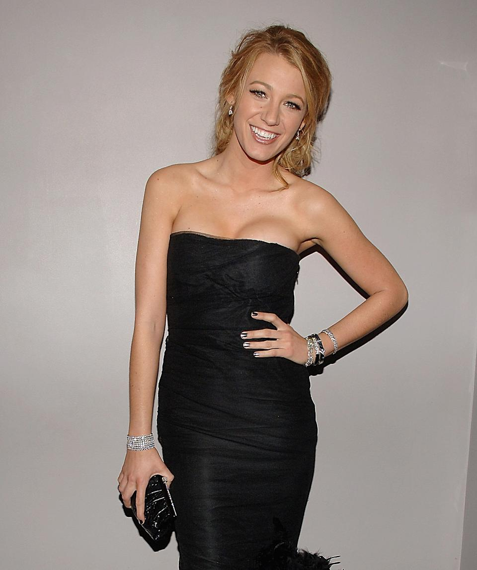 NEW YORK - MAY 05:  Blake Lively attends the Nina Ricci After Party For Met Ball Hosted By Olivier Theyskens and Lauren Santo Domingo at Philippe in New York on May 5,2008  (Photo by Jamie McCarthy/WireImage)