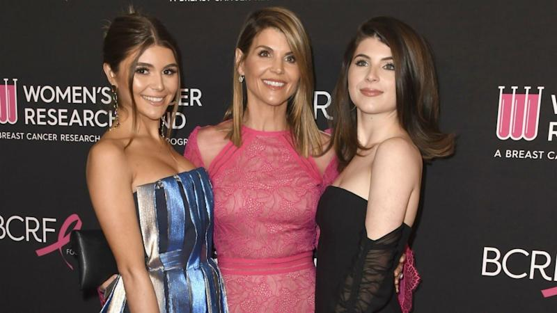 The daughters of Lori Loughlin and Mossimo Giannulli were having a great time together on Monday night.