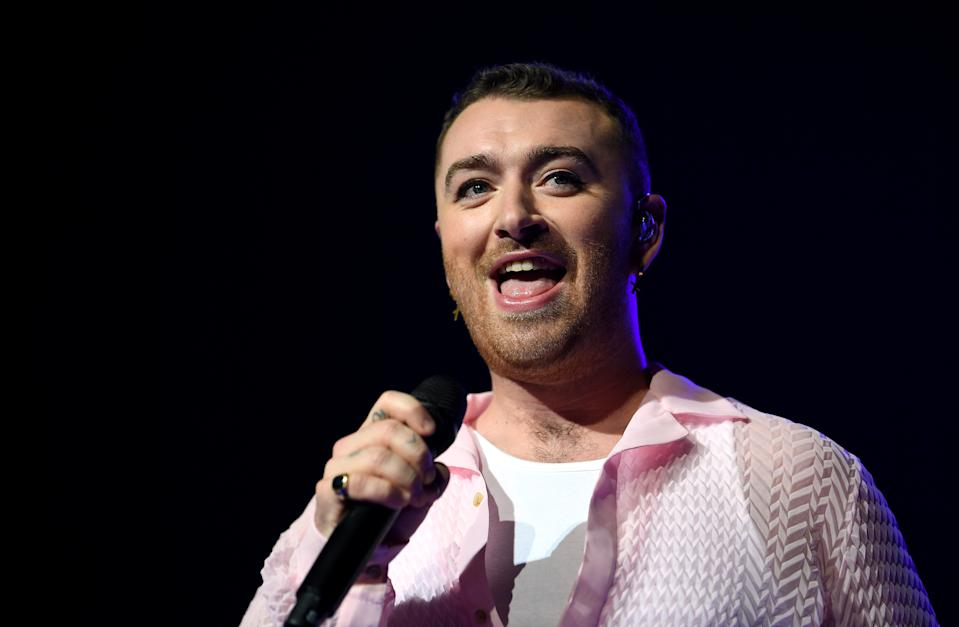 Sam Smith performing on stage during day two of Capital's Jingle Bell Ball 2019 with Seat at the O2 Arena, London. Picture credit should read: Scott Garfitt/EMPICS Entertainment