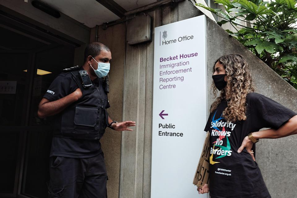 The managers refused to come down, the campaigners claimed (Angela Christofilou)