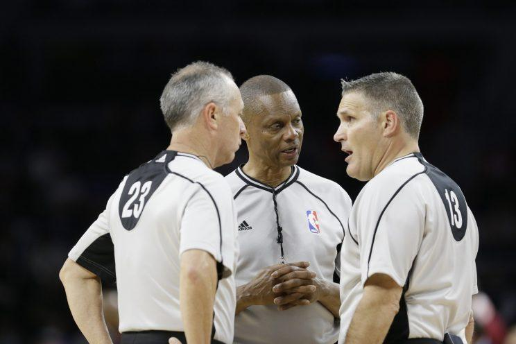 The NBA is experimenting with officiating crews in the D-League. (AP)