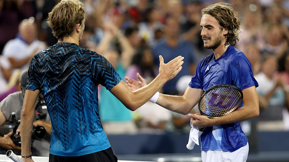 Alexander Zverev and Stefanos Tsitsipas' thrilling semi-final at the Cincinnati Open was overshadowed by a time-out controversy involving the latter. (Photo by Matthew Stockman/Getty Images)
