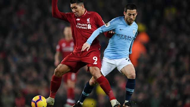ROBERTO FIRMINO LIVERPOOL DAVID SILVA MANCHESTER CITY PREMIER LEAGUE 03012019