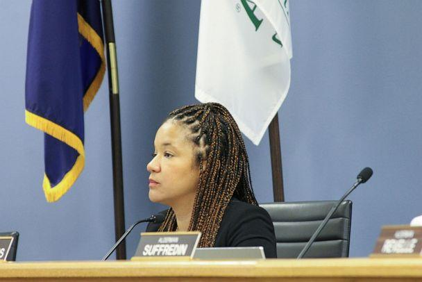 PHOTO: Evanston Ald. Robin Rue Simmons, 5th Ward, proposed a reparations fund that Evanston City Council approved at their meeting on Nov. 25, 2019. (Chicago Tribune/TNS via Getty Images)